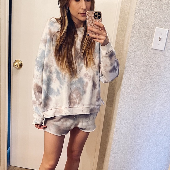 """Free People Kelly Washed Set in color """"Ocean"""""""